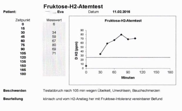 Fruktose-Atemtest