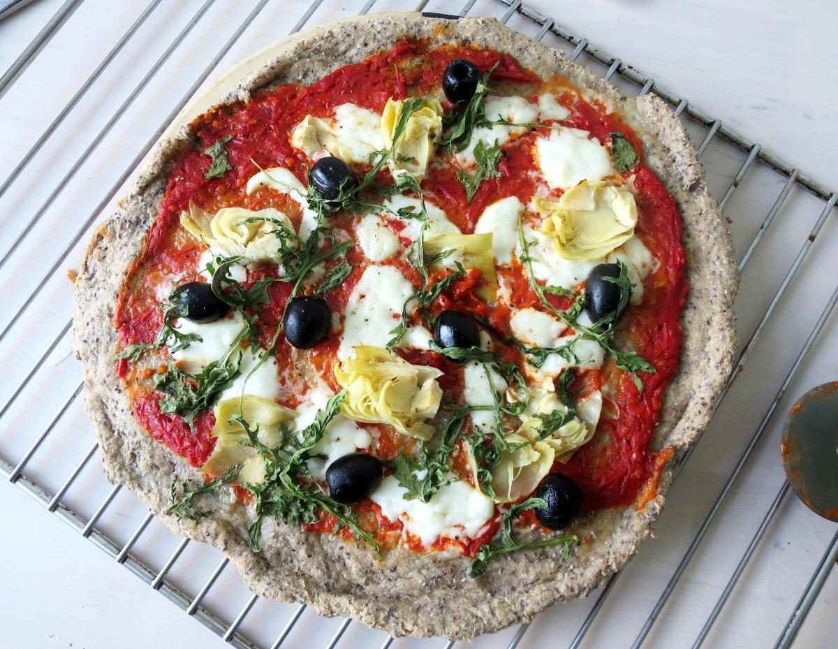 Glutenfreie Chia-Pizza
